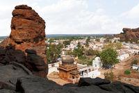 View of Badami town from Cave 4, Badami, Karnataka.