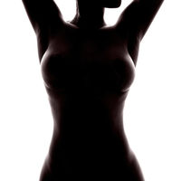 naked female torso of unrecognizable african woman
