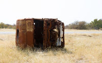 Cabin of a truck, rusted and forgotten
