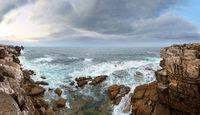 Atlantic rocky sunset coast, Portugal