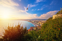 City of Nice Promenade des Anglais waterfront aerial view