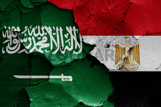 flags of Saudi Arabia and Egypt