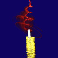 Abstract candle