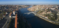 Monastery and Bridge in Porto panorama