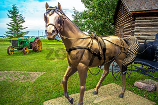 Museum in the village of Hythe in the state of Alberta Canada on