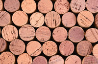 Horizontal wine corks background closeup, horizontal format can be rotated