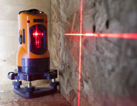 laser measurement level for construction works