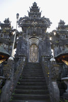 Steps and entrance inside capmus of Pura besakih temple, Indonesia