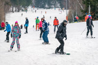 Skiing on the slopes of Szrenica
