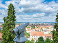 Observation point with aerial view over  Bamberg