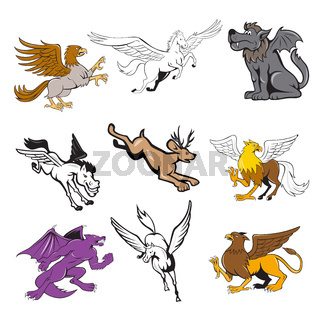 Fabulous Beast Cartoon Set