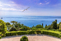 Beautiful Black sea view from the terrasse of the Vorontsov Palace in Crimea