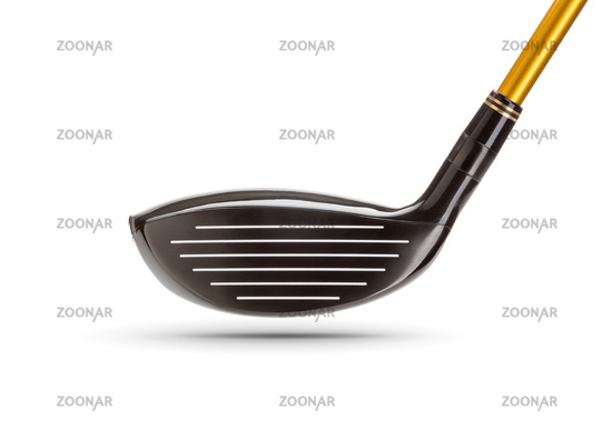 Face of Fairway Wood Golf Club on White Background