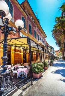 The city center of Sestri Levante Liguria Italy
