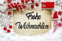 Bright Decoration, Calligraphy Frohe Weihnachten Means Merry Christmas