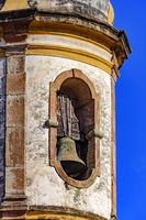 Ancient historical catholic bell church tower and sky
