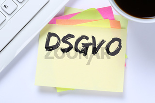 DSGVO Datenschutz Grundverordnung Verordnung Regel EU Europäische Union Internet Schreibtisch