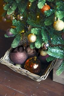 Christmas decoration under the Christmas tree