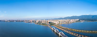 beautiful jiujiang cityscape panorama