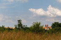 Blick zum Quedlinburger Schloss Welterbestadt Quedlinburg