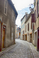 Old streets of Limoges with cobblestone pavement