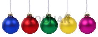 Weihnachten Weihnachtskugeln Weihnachts Farben Kugeln Deko Dekoration Freisteller
