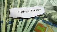 Higher Taxes message