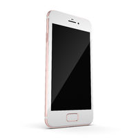 3D rendering pink smart phone with black screen