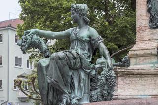 Brunnenfigur, Lindavia-Brunnen, Lindau Insel, Bodensee