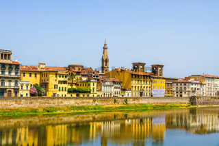 The Arno river and the historic architecture of Florence