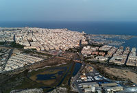Panorama of Torrevieja port, Las Salinas and cityscape of Torrevieja. Spain