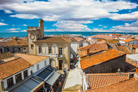 Yellow tiled roofs and Mediterranean Sea