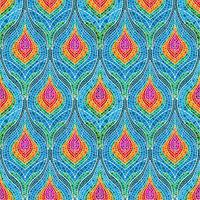 Mosaic feather pattern