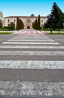 Pedestrian crossing over the street