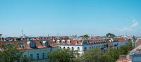 Panoramic view over Berlin City skyline - rooftops above Berlin -