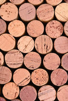 Wine corks background closeup, vertical format, may be rotated
