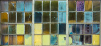 Background Of Multicolored Glass Panes