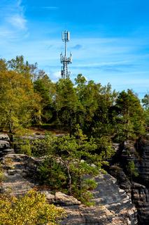 Antennenmast auf dem Lilienstein