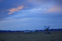 Radiotelescopes at the Very Large Array, the National Radio Observatory in New Mexico,USA
