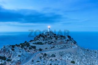 Mallorca Cap Formentor Abend Nacht Leuchtturm Meer Spanien