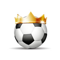 Soccer Ball in Golden Royal Crown