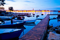 Town of Porec coast dawn view