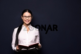 Businesswoman with a notebook