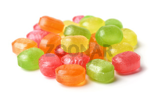 Pile of hard fruit candies