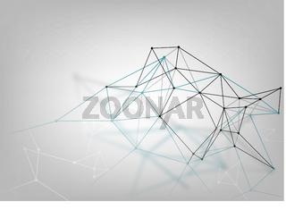 Abstract Geometric 3D Lattice Background