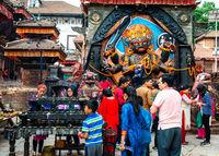 Kal Bhairav on Durbar Square in Kathmandu, Nepal