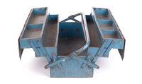 Old metal toolbox