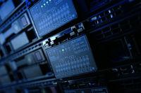 Equipment on the shelves is the data center. Server date centers.