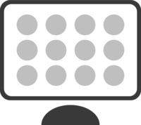 Computer App Icons On Screen Vector