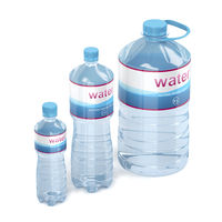 Water bottles with different sizes